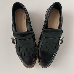 Zara Woman black platform shoes. Size 7